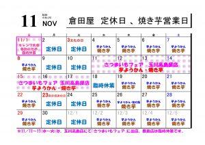 2020-11月営業日